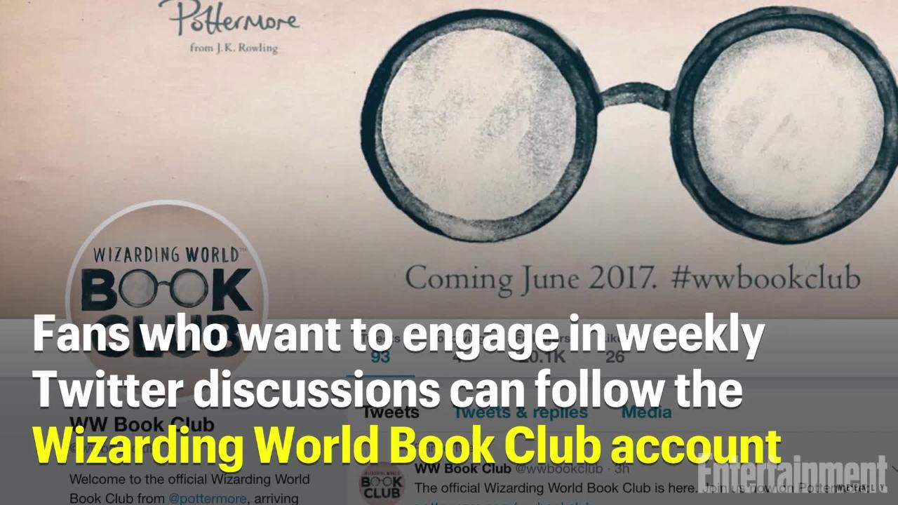 wizarding world book club launches on pottermore