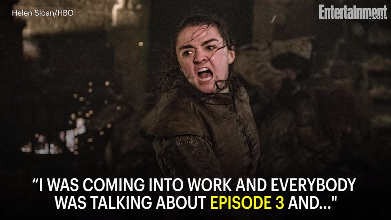 Game Of Thrones Maisie Williams On That Winterfell Battles Shock