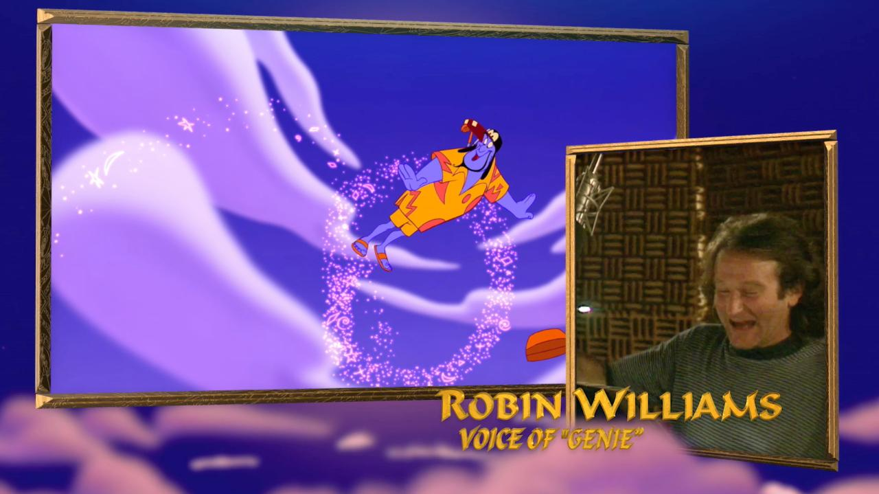 Watch Robin Williams and the cast of Aladdin in the recording booth