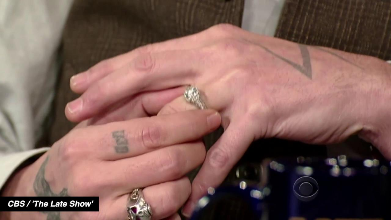 Johnny Depp Talks Engagement Ring on <em>Late Show</em> After ...