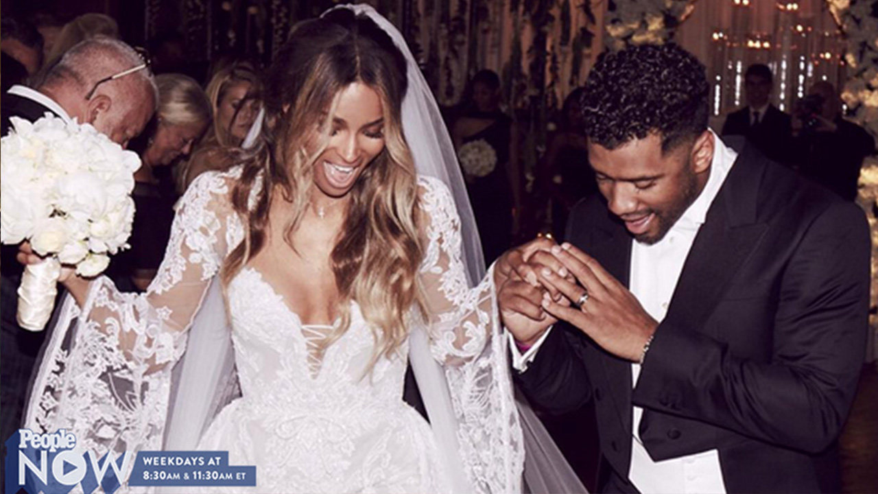 See Ciaras Double Diamond Wedding Bands from Russell Wilson