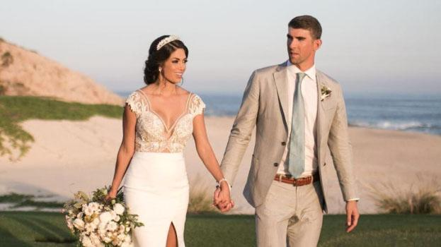 Michael Phelps and Nicole Johnson Wedding Dress Details