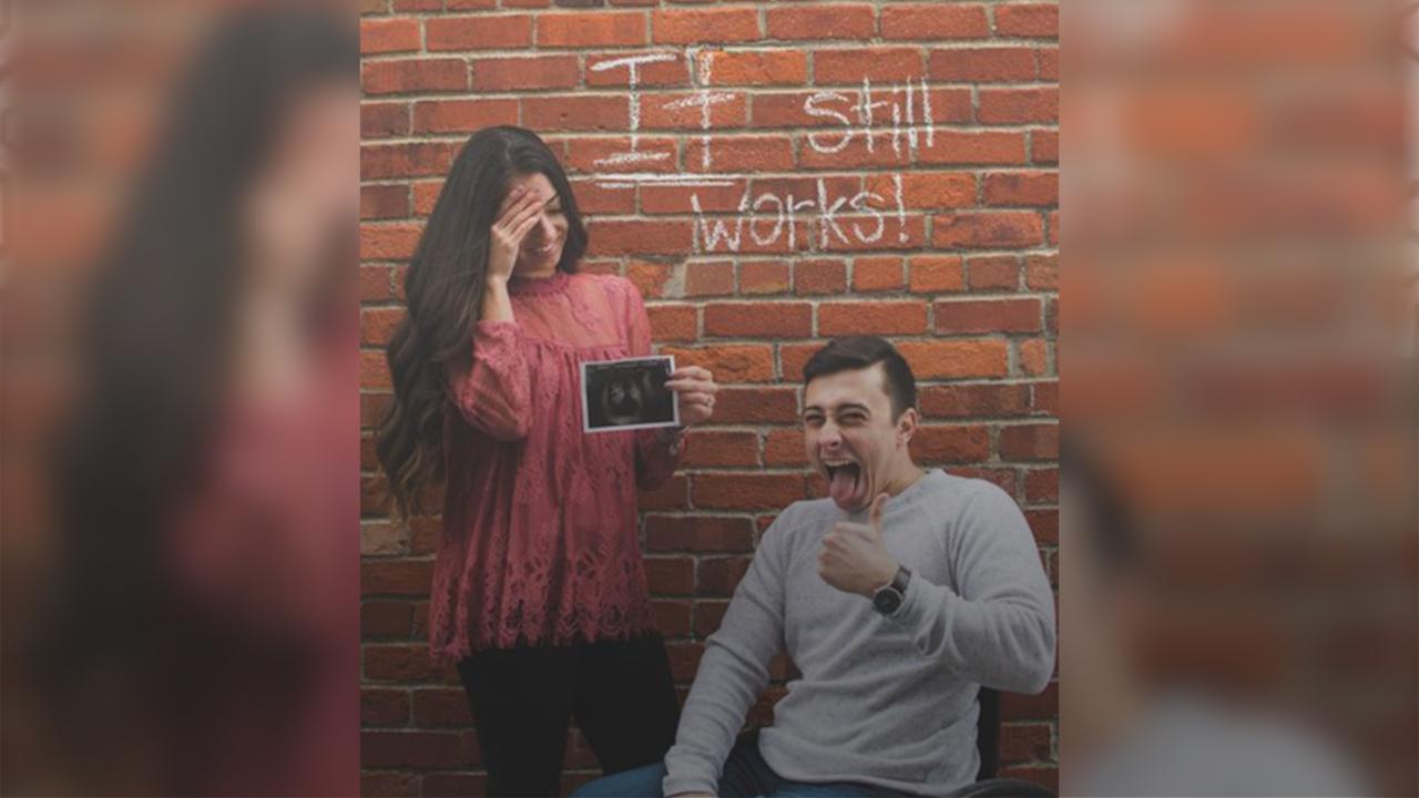 3a84918606f38 Paraplegic Man and Fiancee Announces Pregnancy: 'It Still Works'    PEOPLE.com