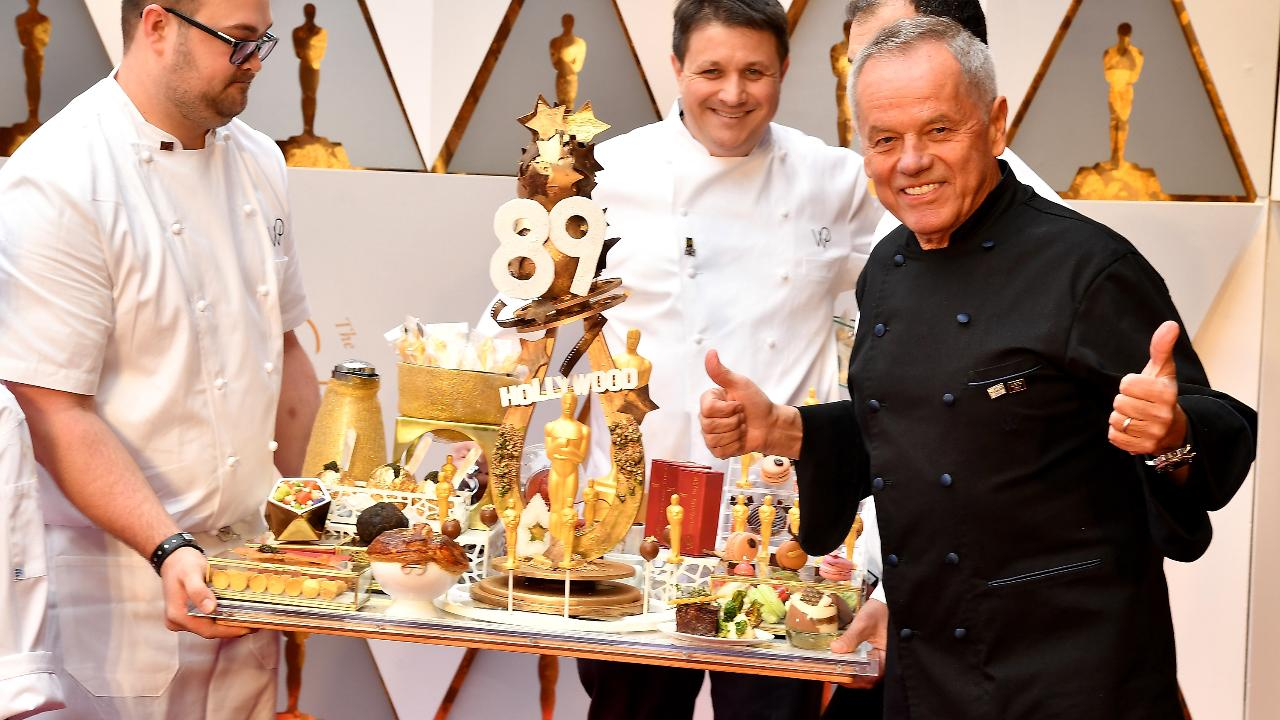 Wolfgang Puck on His Famous Chocolate Oscars – with His Littlest Assistant