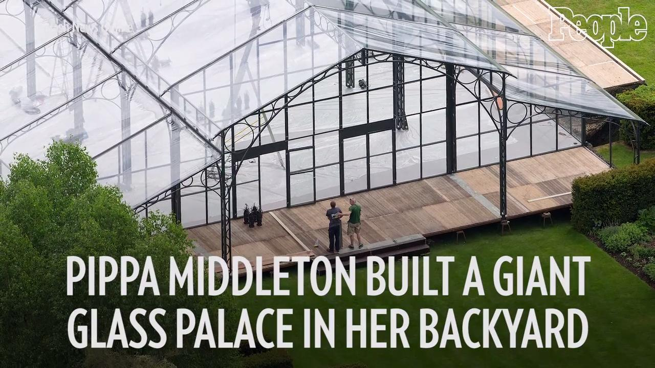 Pippa Middleton Wedding Marquee.Pippa Middleton Built A Giant Glass Wedding Palace In Her Backyard