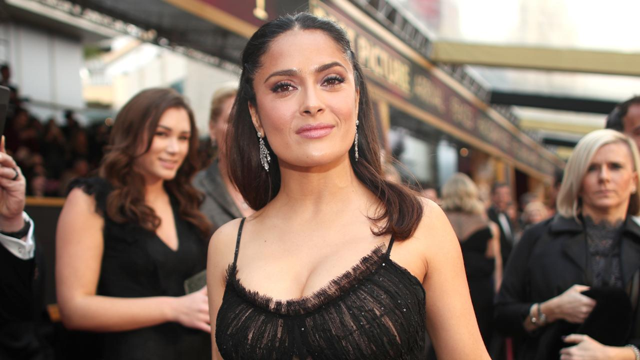Salma Hayek 50 Shows Off Her Incredible Body In Outdoor
