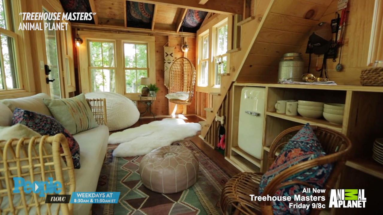 grace vanderwaals treehouse masters treehouse reveal peoplecom - Treehouse Masters Tree Houses Inside
