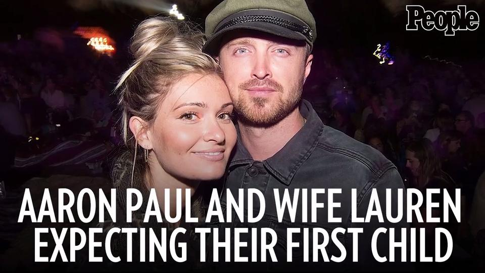 Aaron Paul and Wife Lauren Expecting First Child: 'Words Can't Express How  Excited I Am'