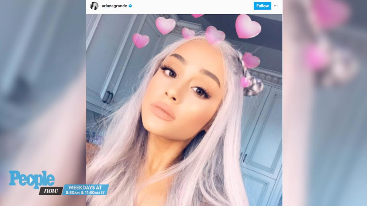 Ariana Grande Shows Off Her New Grey Hair On Instagram People