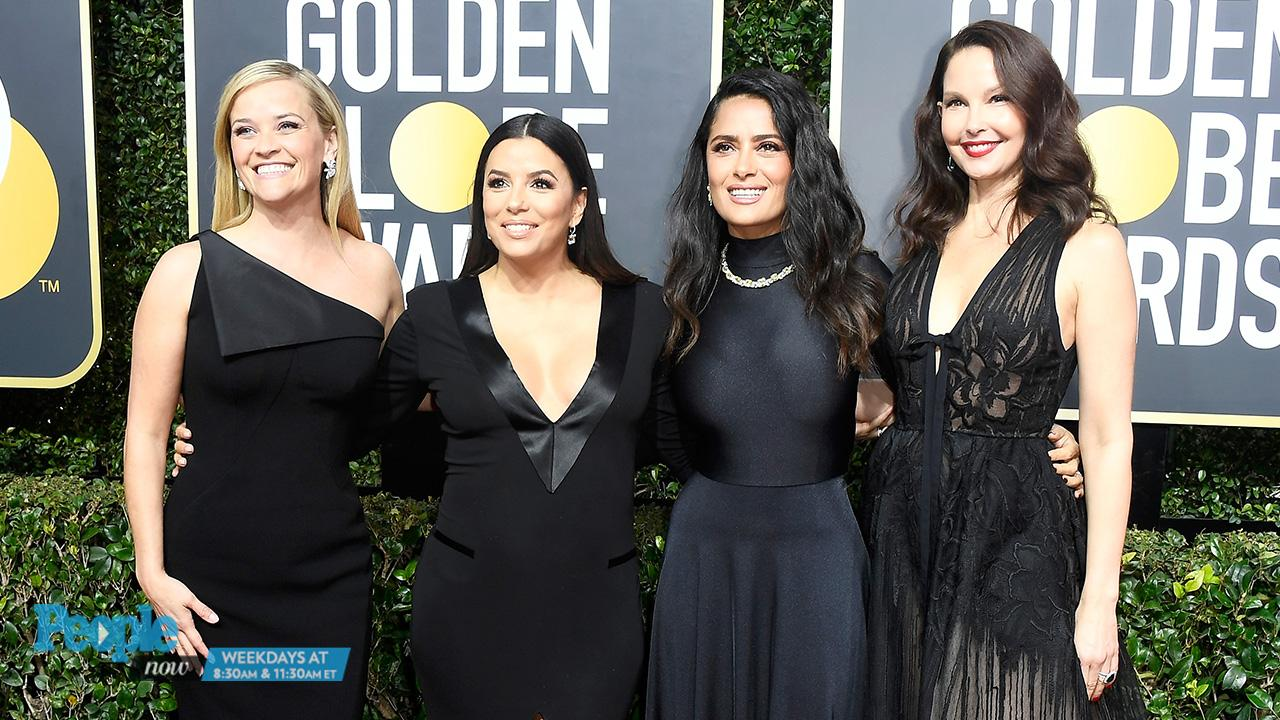 Women of Hollywood Attend Golden Globes Together in Support of the Time's  Up Movement