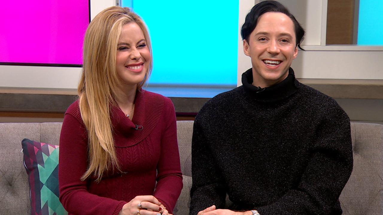 Tara Lipinski Surprises Johnny Weir Without His Weave