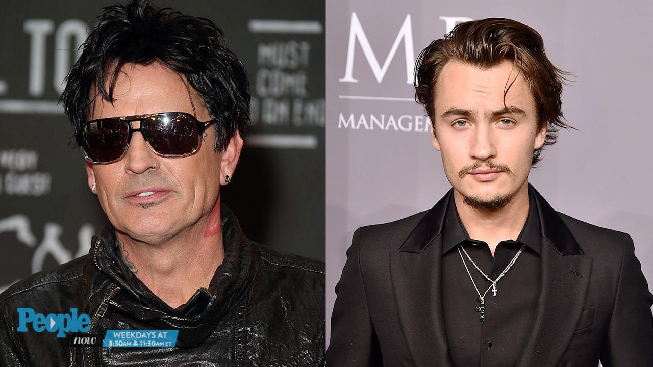 7860ea2d0b4 Tommy Lee and Son Brandon Feud on Father's Day | PEOPLE.com