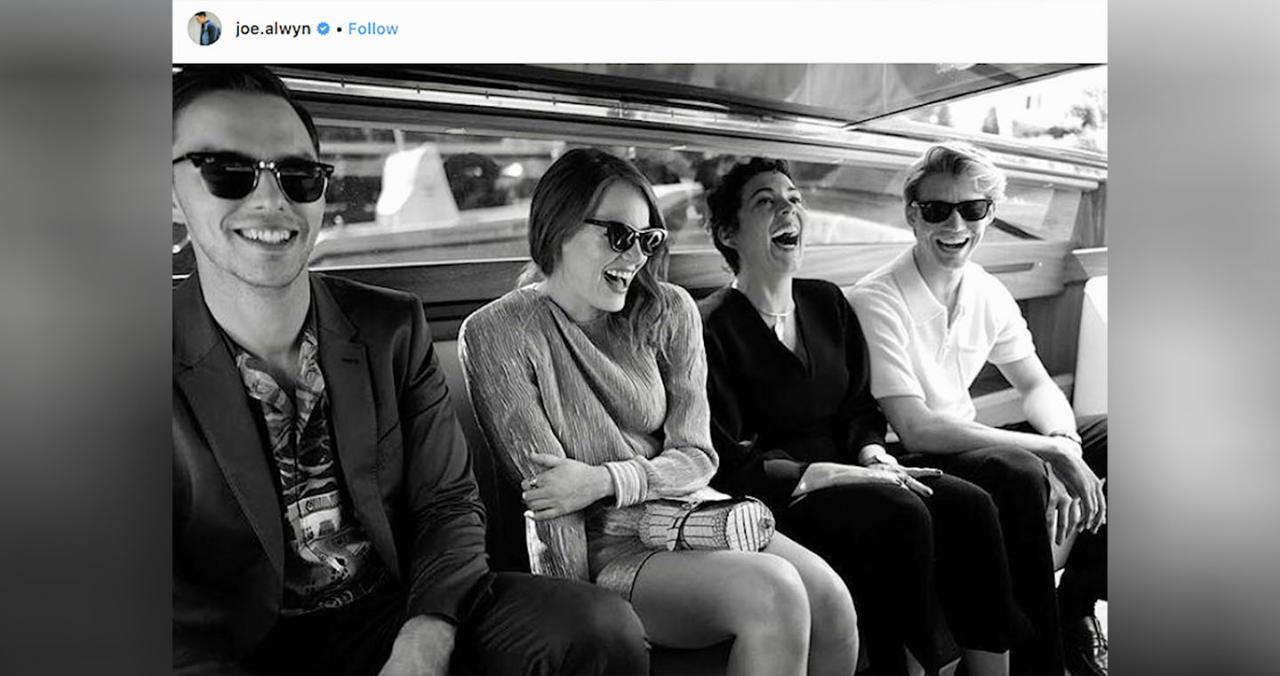 Taylor Swift's Boyfriend Joe Alwyn Suits Up for Venice Film Festival Carpet  with Emma Stone