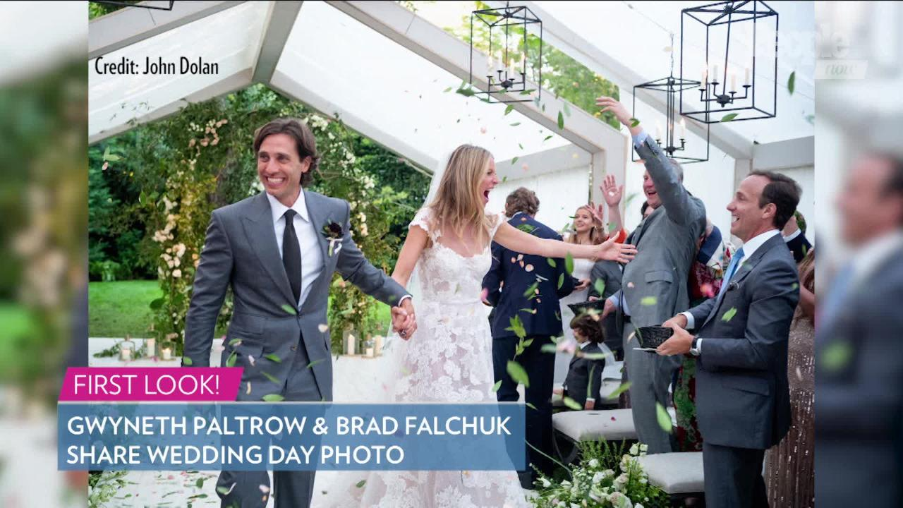 ad910419117 Gwyneth Paltrow Switched Into a Stella McCartney Romper for Her Wedding  Reception