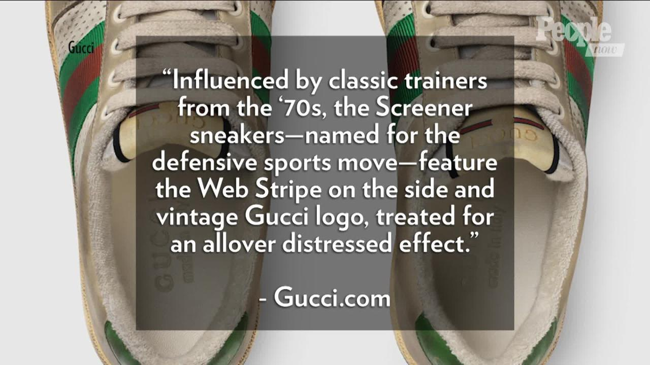 58ffeafda Gucci Is Selling $870 Sneakers That Purposely Look Dirty | PEOPLE.com