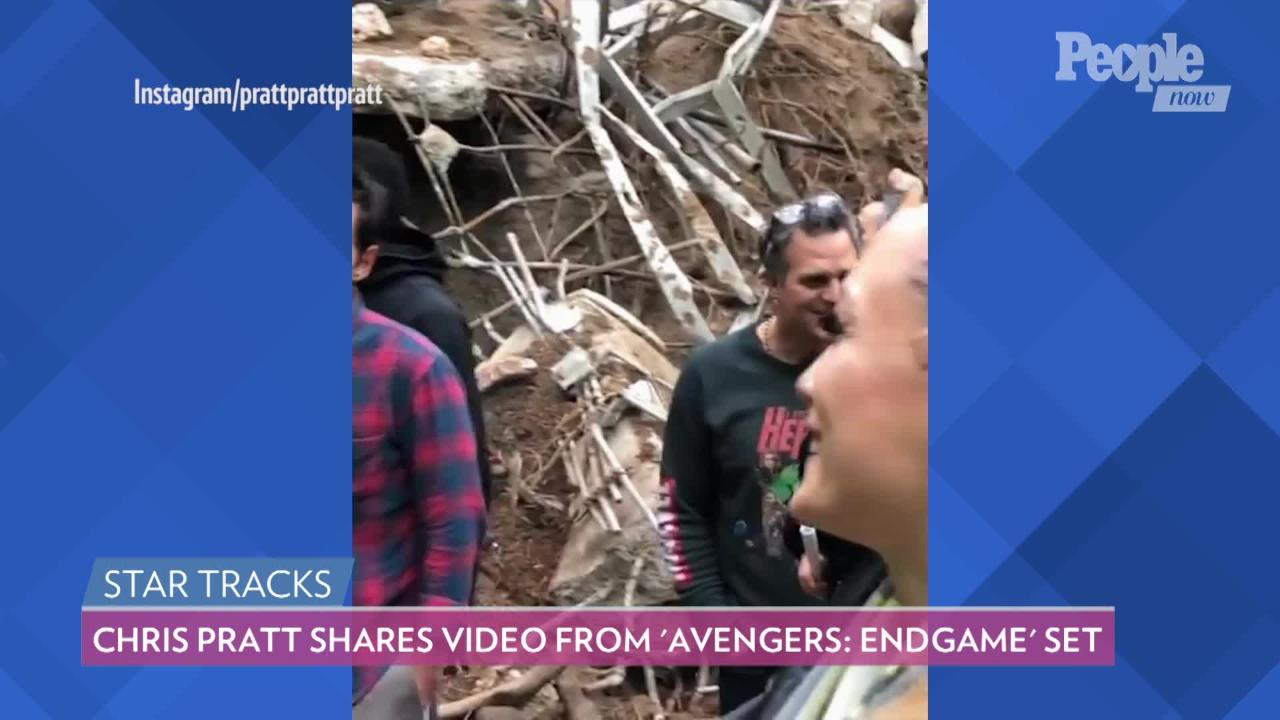Chris Pratt Shares 'Really Illegal' Behind-the-Scenes Video from 'Avengers:  Endgame' Set