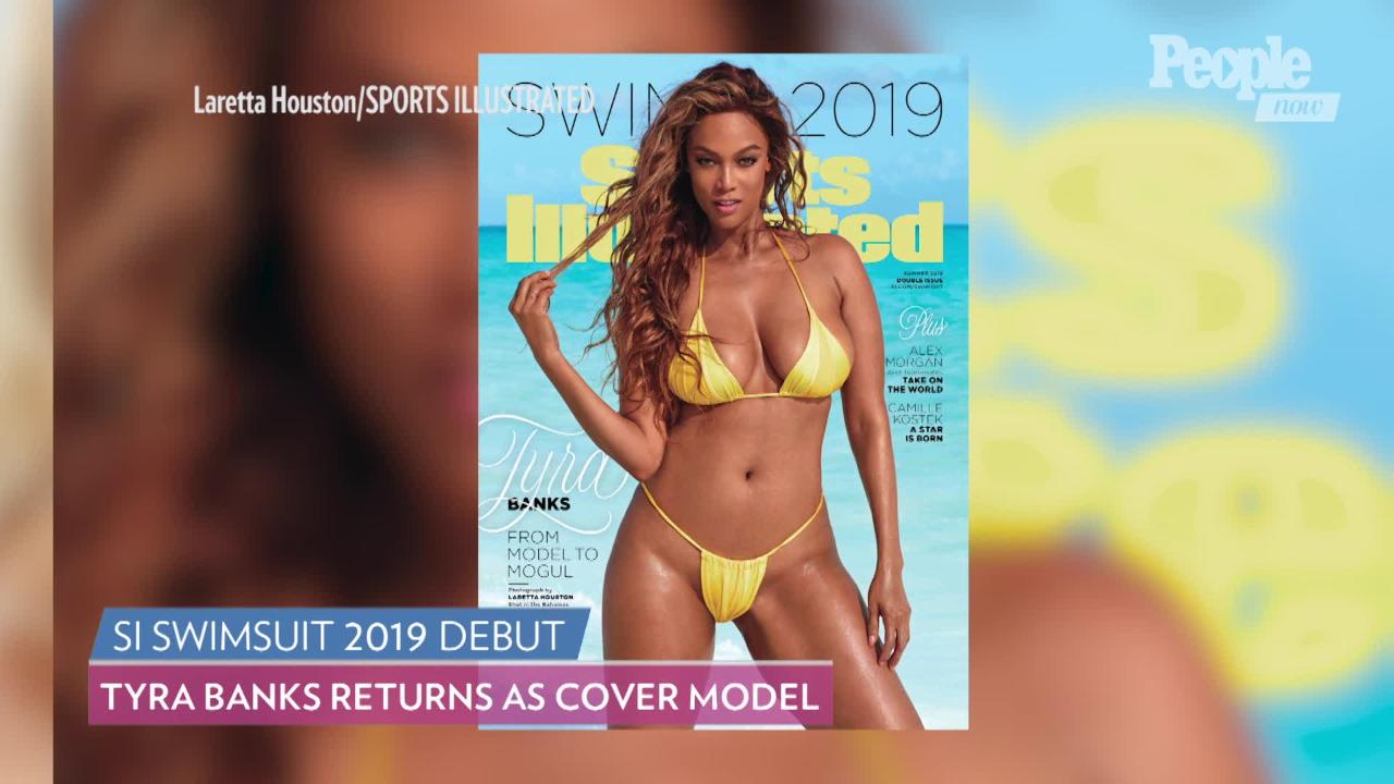 Before Ate Sports Illustrated Tyra Swimsuit Cover Pizza Banks Her vnPwmN08Oy