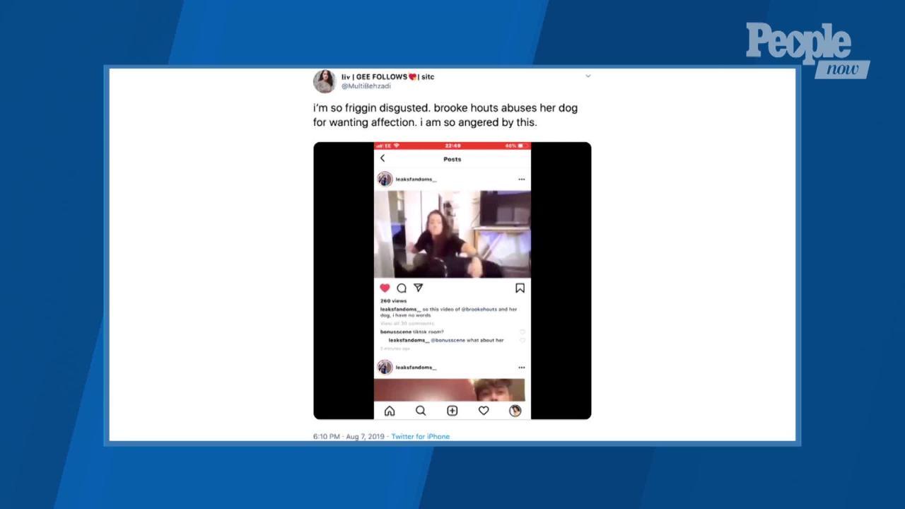 YouTuber Brooke Houts Uploads Video of Herself Hitting Dog
