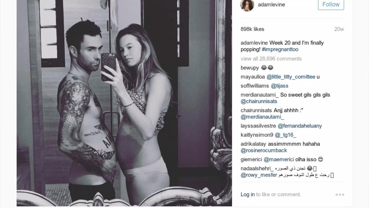 Behati Prinsloo Shared a Touching Photo Tribute to Her and Adam Levine's Daughters