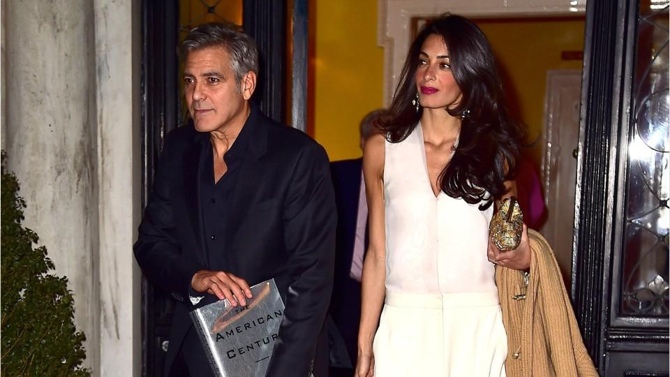 Amal Clooney Pulls Off Head-to-Toe Plaid Like a Total Pro for Date Night with George