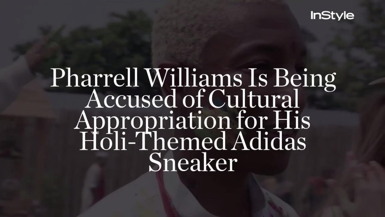 5ffce2d39c0 Pharrell Accused of Cultural Appropriation for Holi Adidas Sneaker ...
