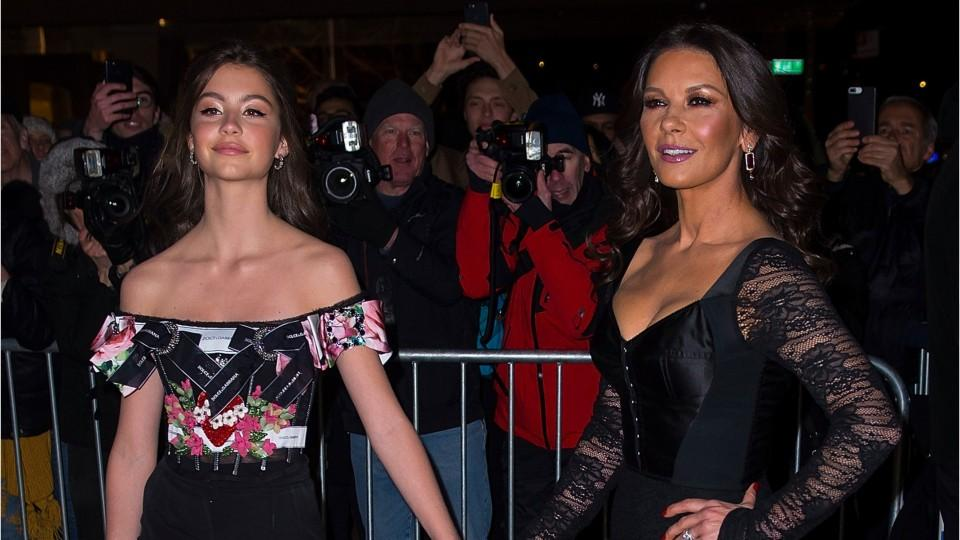 Catherine Zeta-Jones and Her 16-Year-Old Daughter Twinned on Their Second Magazine Cover Together