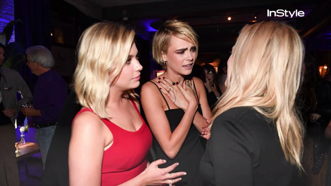 Cara Delevingne And Ashley Benson Spark Engagement Rumors Instyle Com