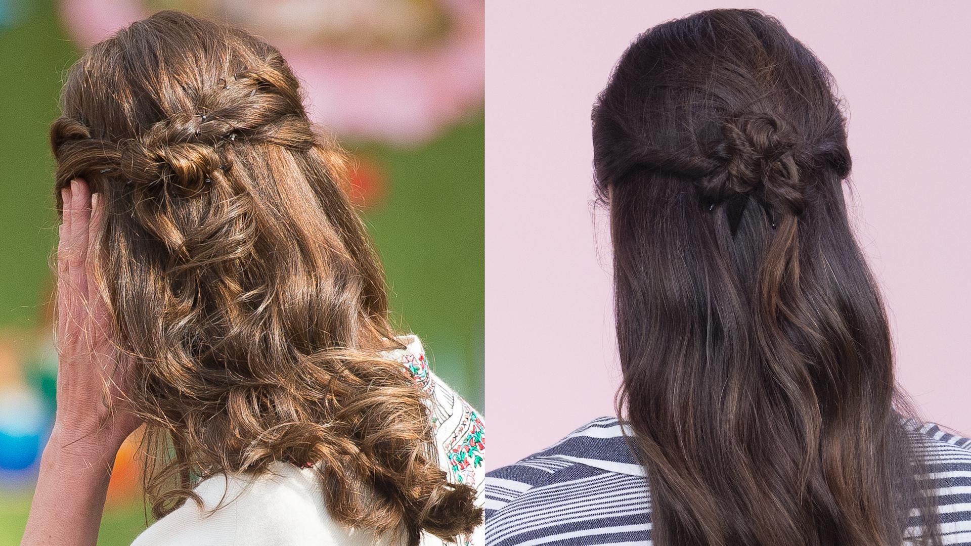 How To Do Kate Middletons Half Up Hairstyle Instyle