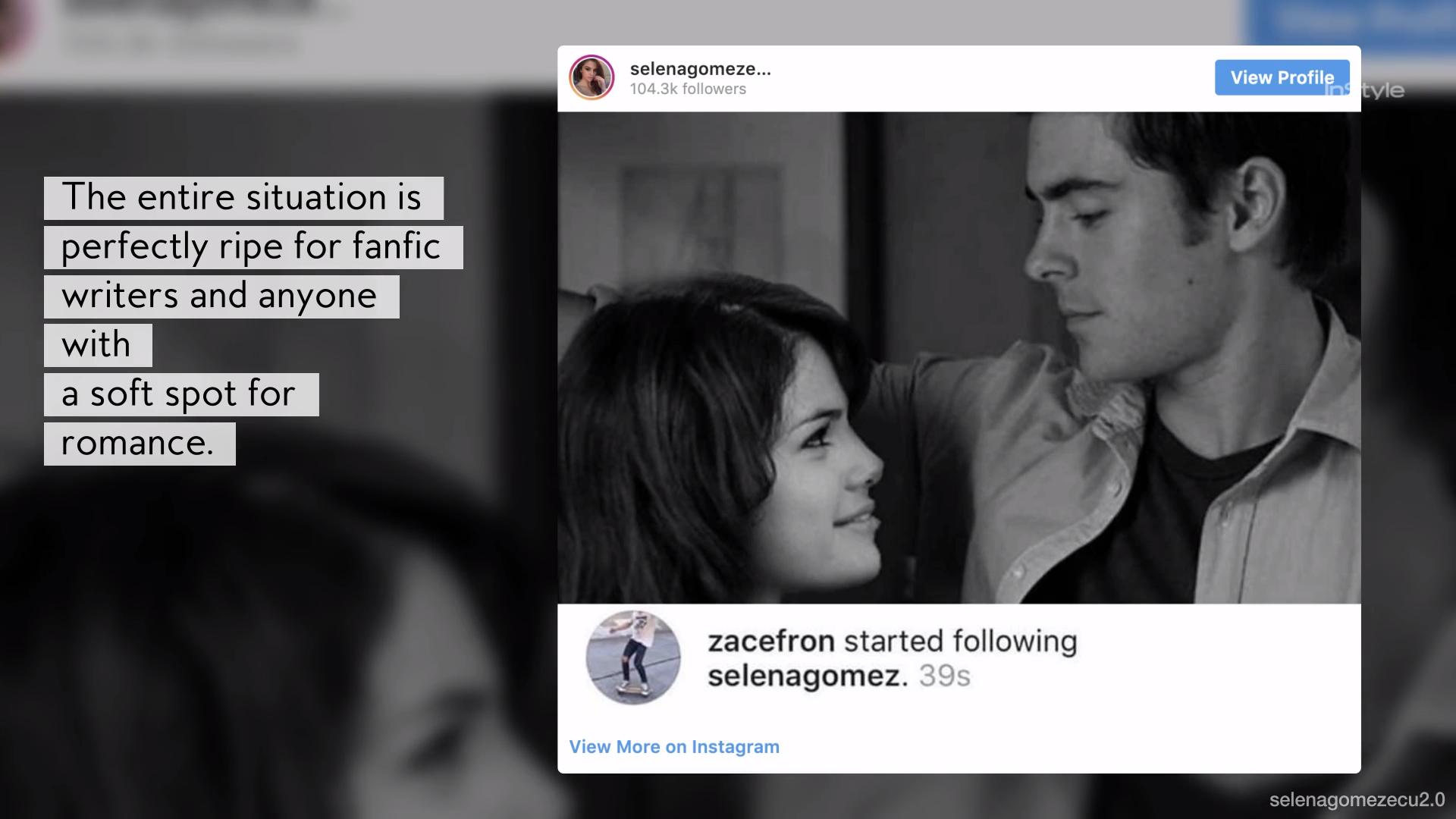 Why Fans Are Shipping Zac Efron and Selena Gomez   InStyle com