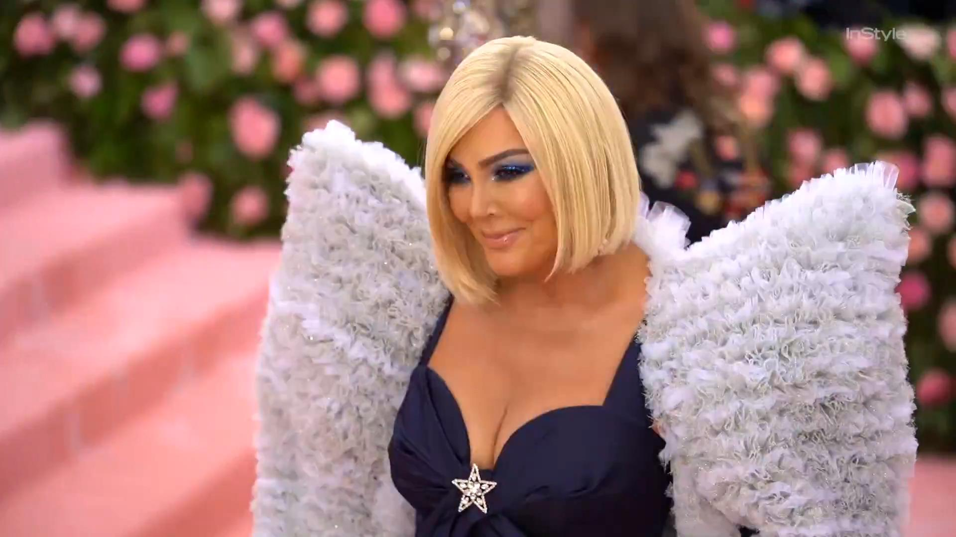 Kris Jenner Showed Up to the 2019 Met Gala With a Platinum Blonde Bob