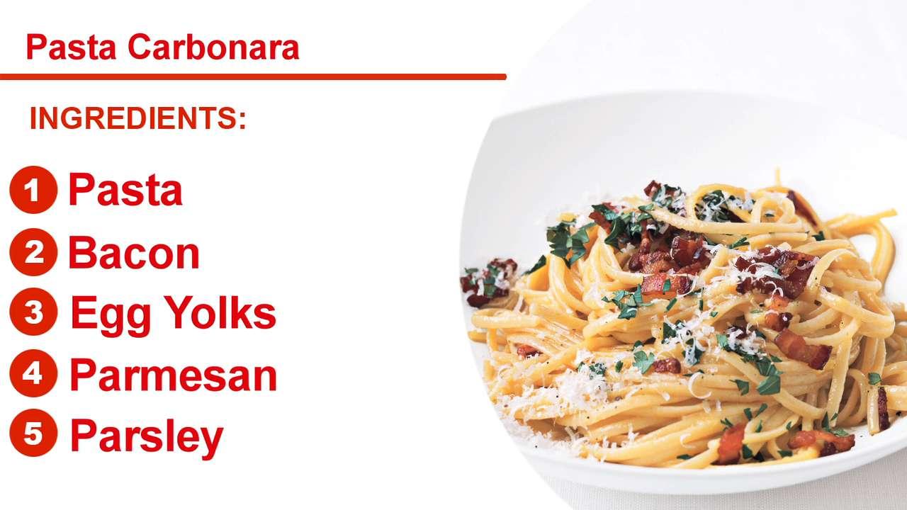 Pasta carbonara recipe myrecipes forumfinder Choice Image