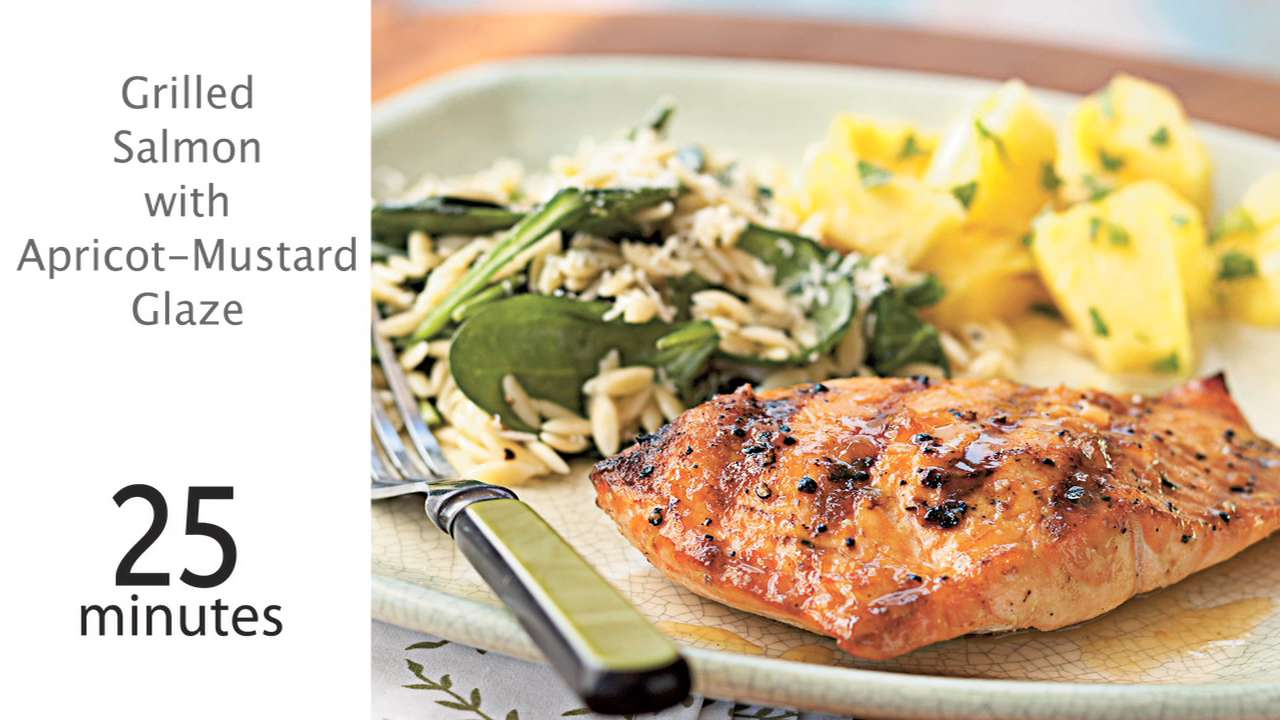 bd9f89f6df9a Grilled Salmon with Apricot-Mustard Glaze Recipe