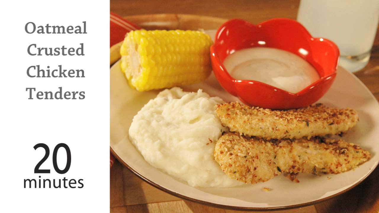 Oatmeal-Crusted Chicken Tenders