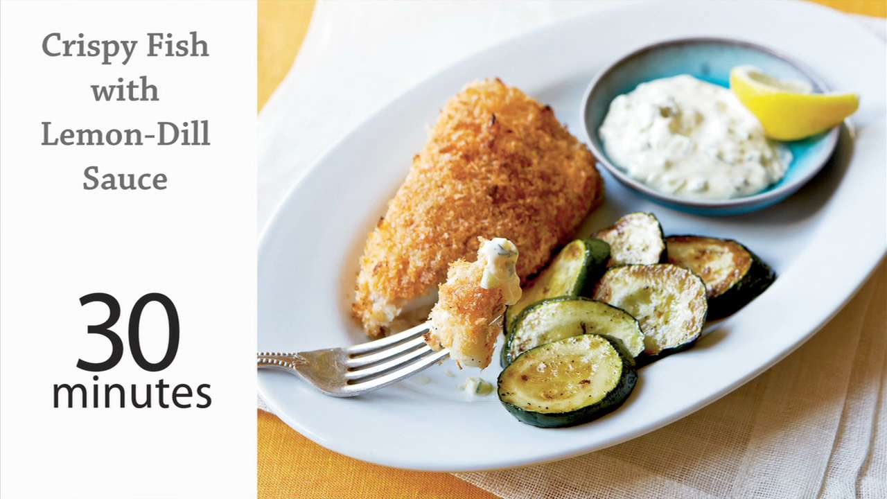 pics Cod with Courgettes, Crispy Pancetta and Dill Recipe