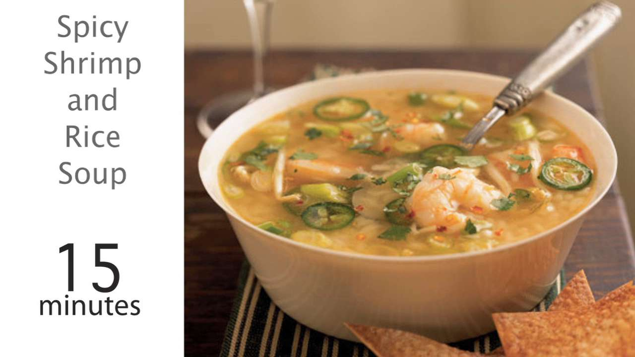 Spicy shrimp and rice soup recipe myrecipes forumfinder Gallery