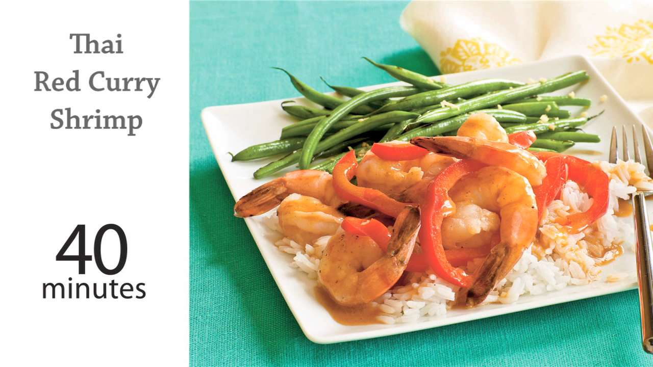 Thai red curry shrimp recipe myrecipes forumfinder Image collections