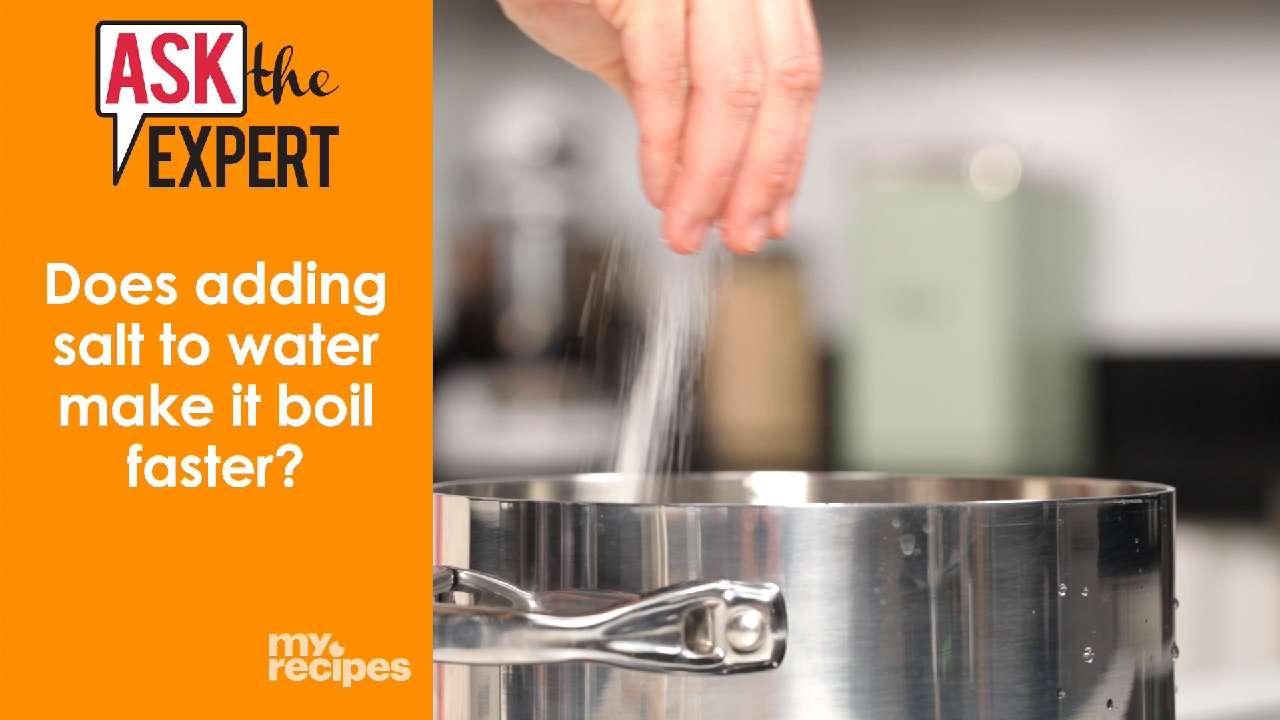 does salt make the water boil faster