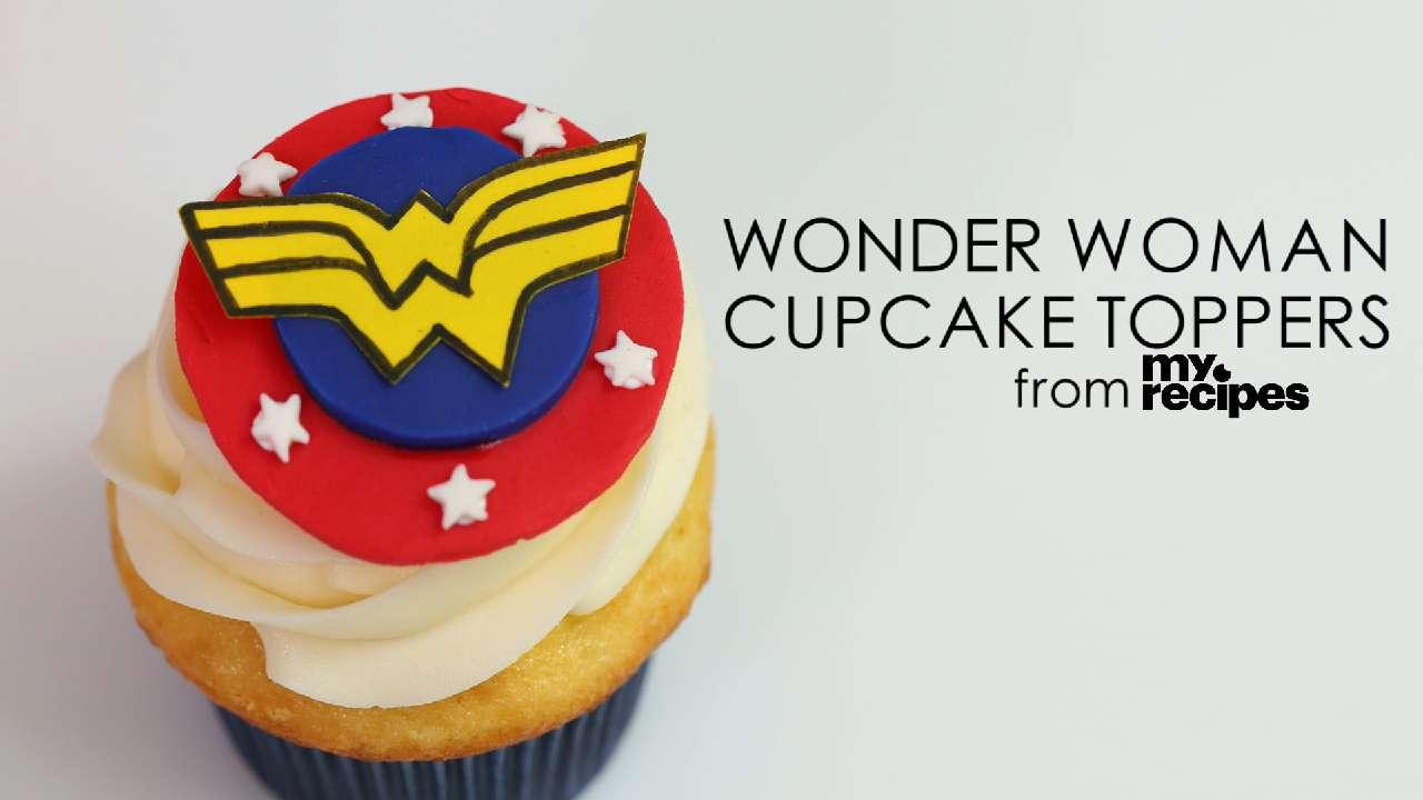 Wonder Woman Cupcake Toppers Recipe Myrecipes