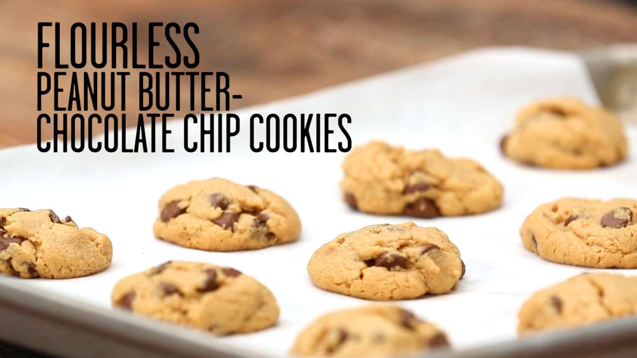 How To Make Flourless Peanut Butter Chocolate Chip Cookies Video
