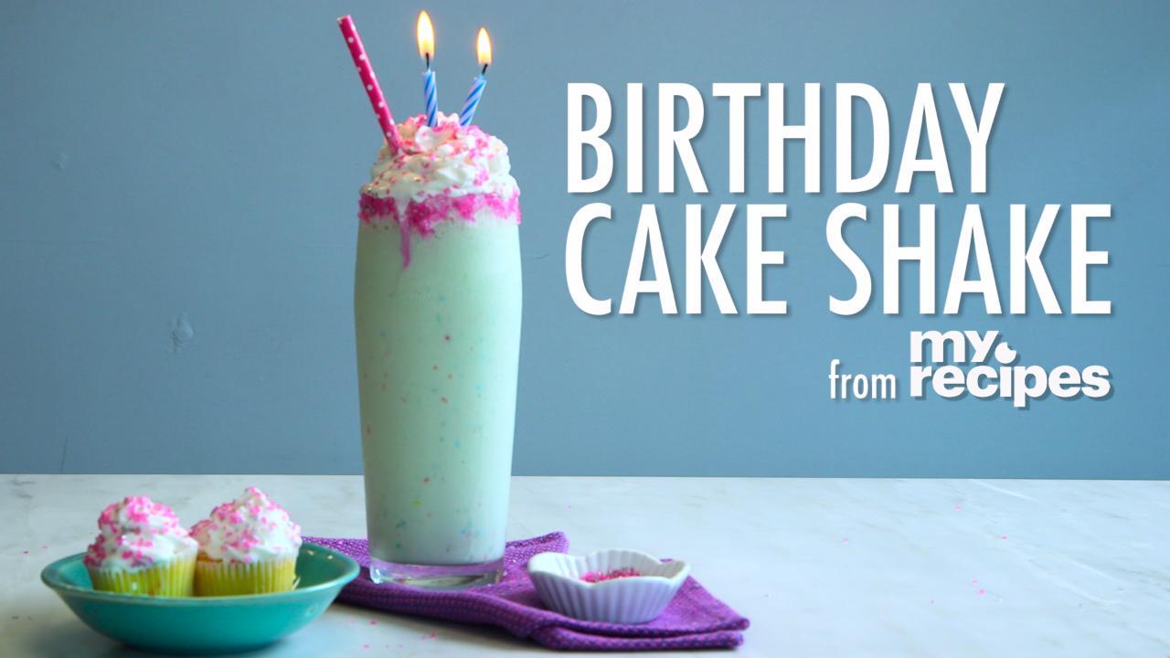 How To Make A Birthday Cake Milkshake