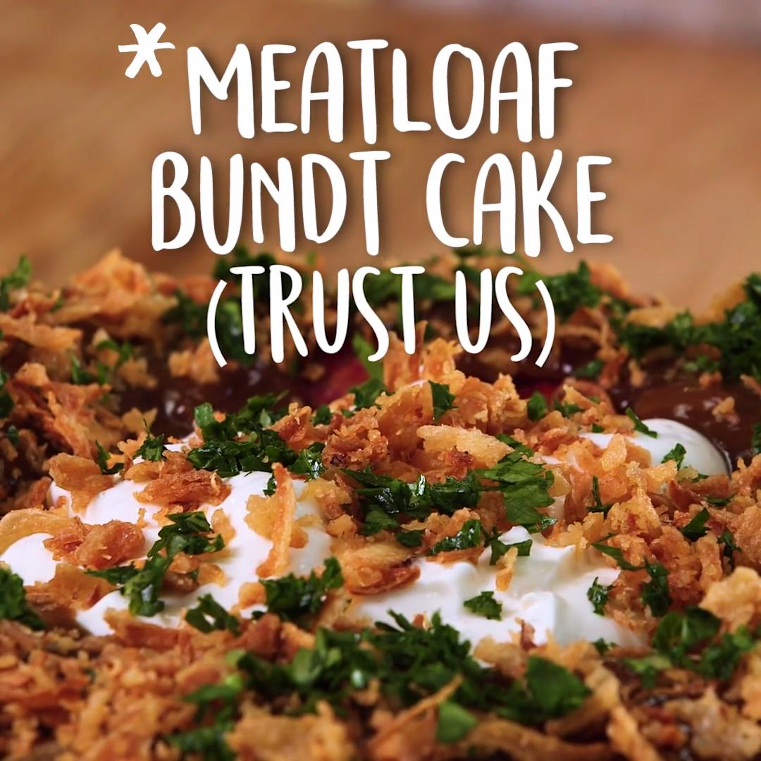 Astounding Meatloaf Bundt Cake Recipe Myrecipes Personalised Birthday Cards Cominlily Jamesorg