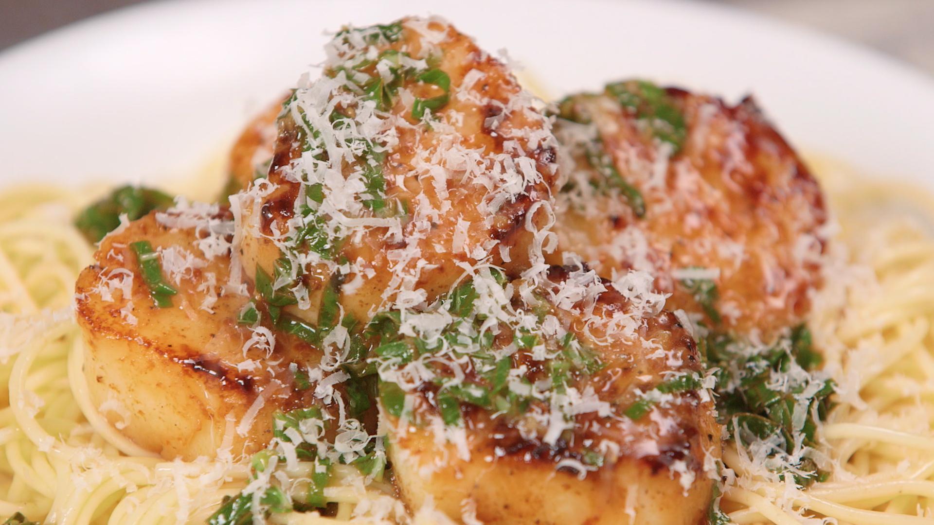 Scallops with lemon basil sauce recipe myrecipes forumfinder Images