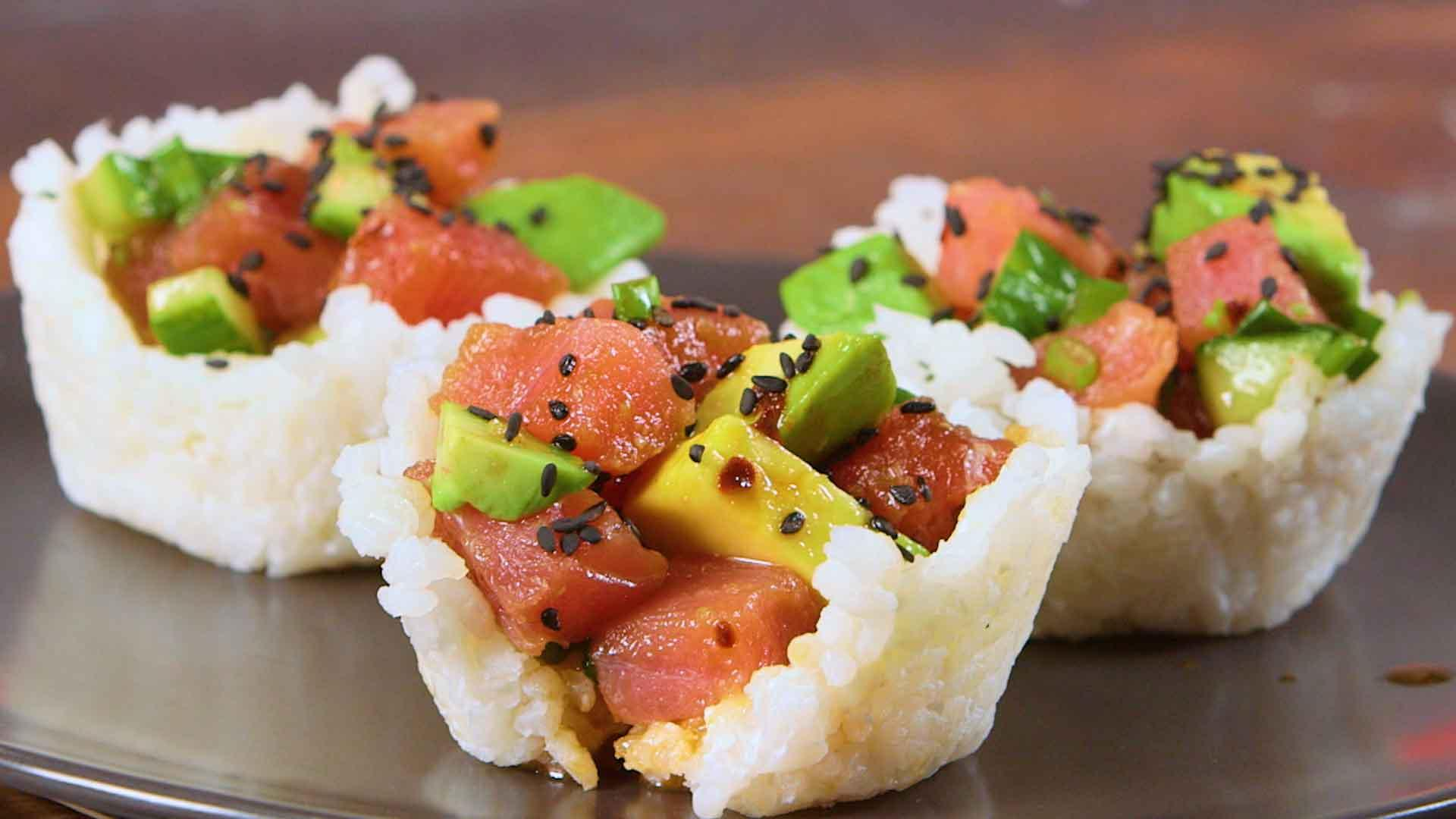 How to Make Ahi Sushi Cups