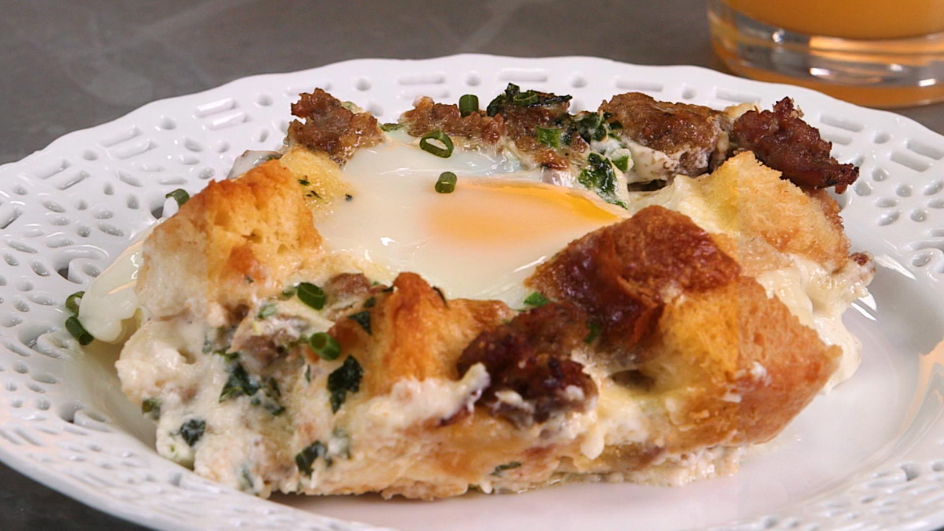 Creamy Brioche and Egg Bake
