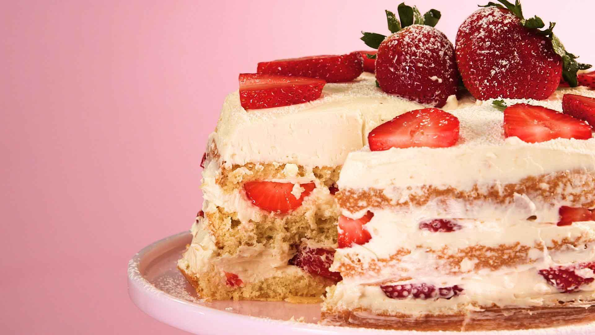 Basic Naked Cake Recipe | MyRecipes