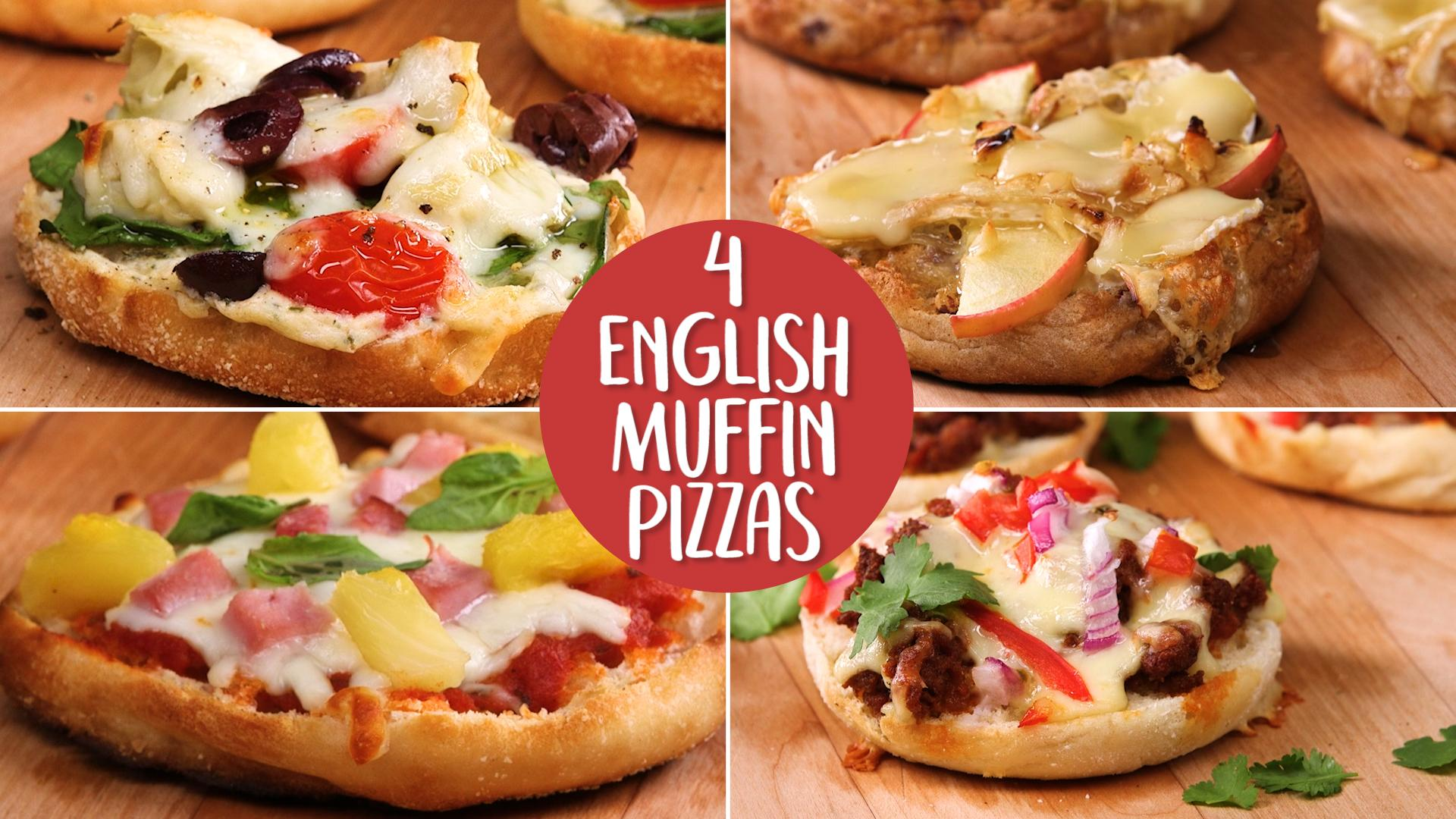 How to make 4 english muffin pizzas video myrecipes forumfinder Image collections
