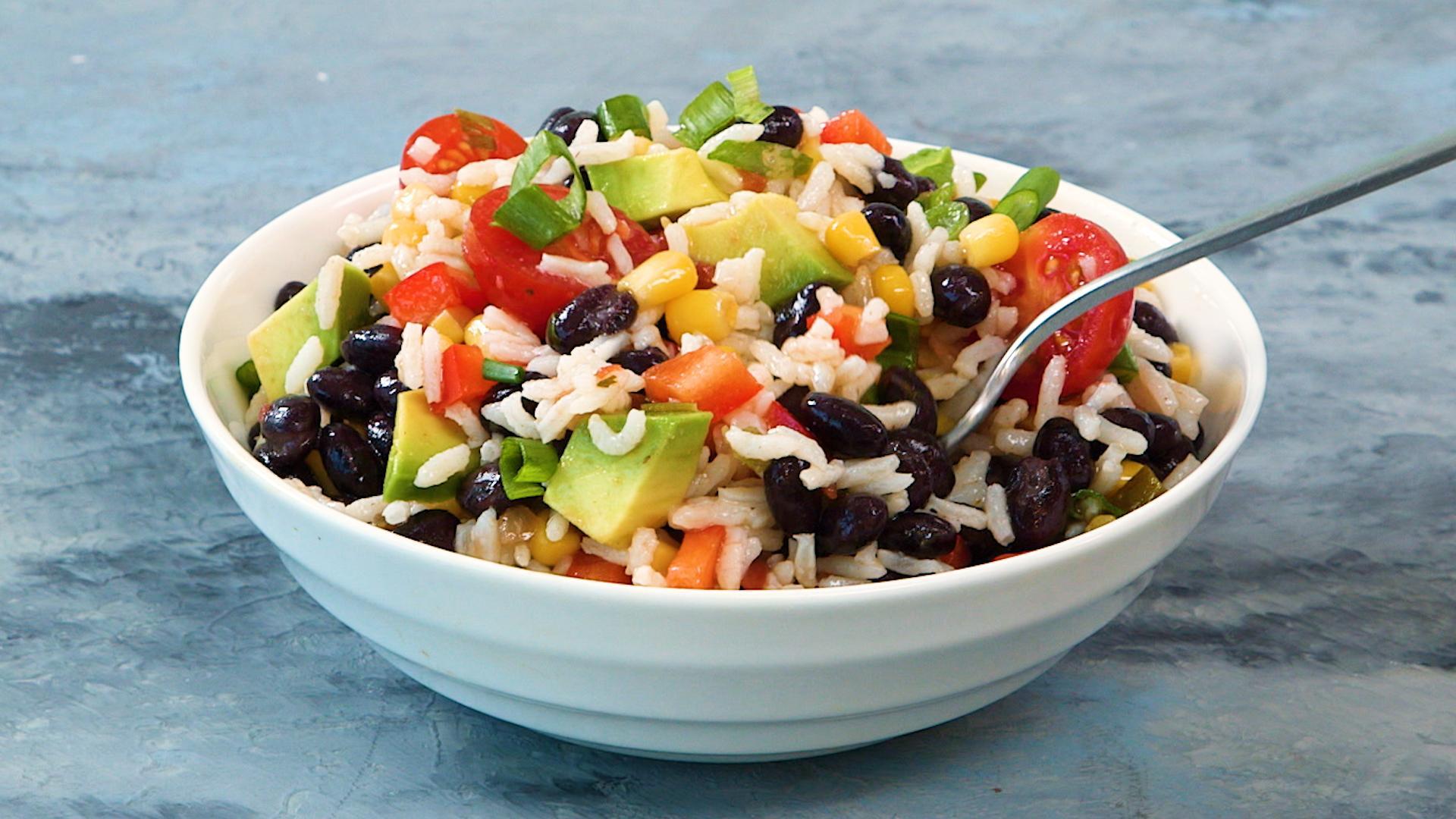 fiesta rice salad recipe myrecipes rh myrecipes com