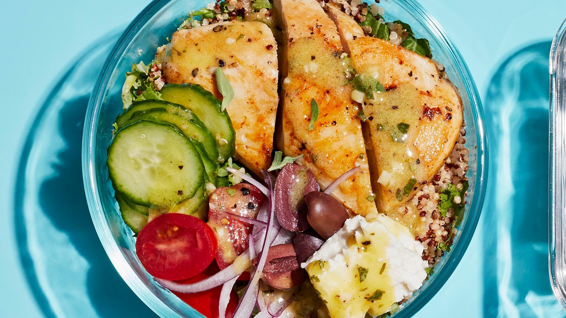 Greek Chicken Grain Bowls