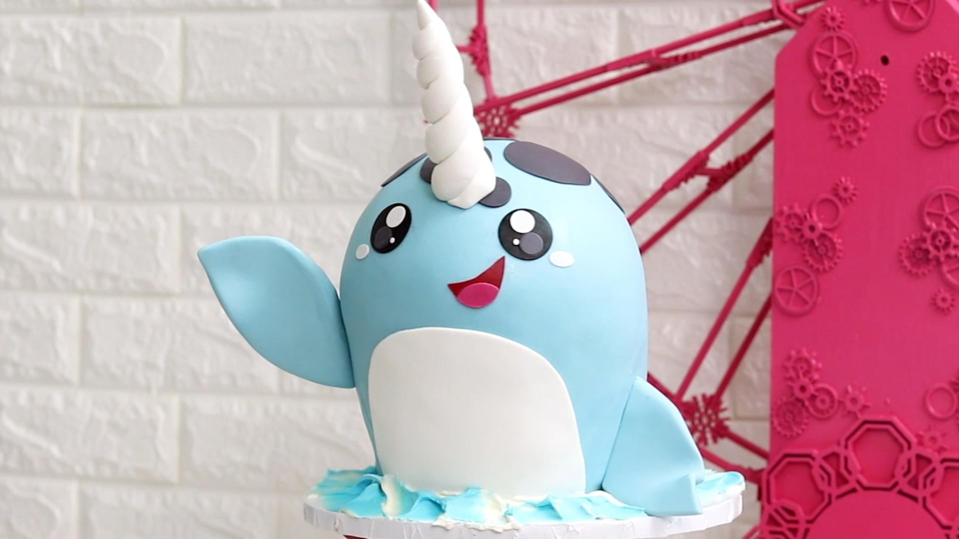 How To Make A Narwhal Cake Video Myrecipes