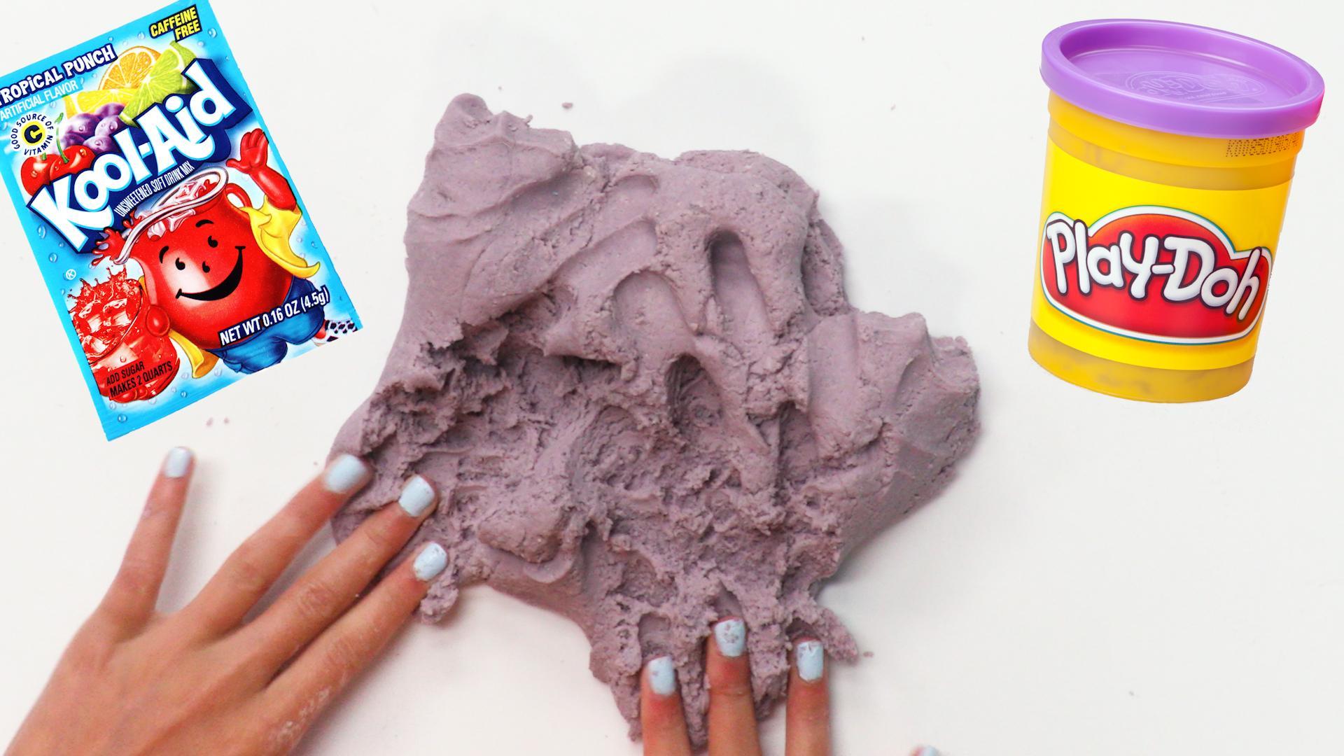No-Cook Kool-Aid Playdough Recipe